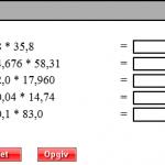 gange med decimaltal